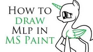 How To Draw MLP In MS Paint
