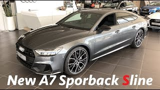 Audi A7 Sportback Sline 2018 in depth full review in 4K (interior & exterior)