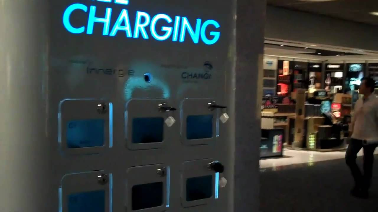 Singapore Changi Int Airport Mobile Charging Youtube