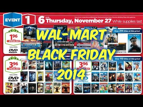 Wal-Mart Black Friday AD 2014 (Movie Section) Discussion