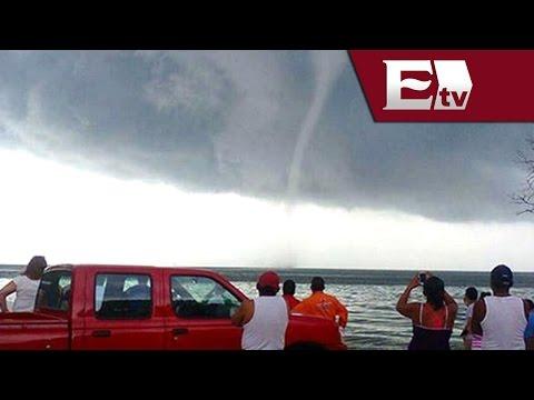 Espectacular tromba marina en Carmen, Campeche/ Titulares