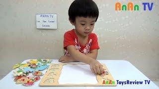 Đồ chơi ghép hình - Bé chơi ghép hình ❤ Anan ToysReview TV ❤