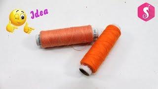 DIY Thread Craft Idea | Make Unique Showpiece from Thread & Plastic Bottle