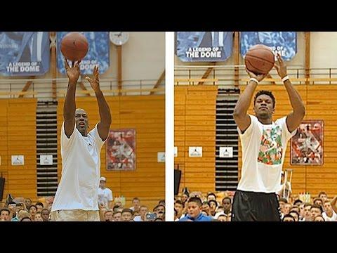 Michael Jordan Vs. Jimmy Butler Shooting Contest