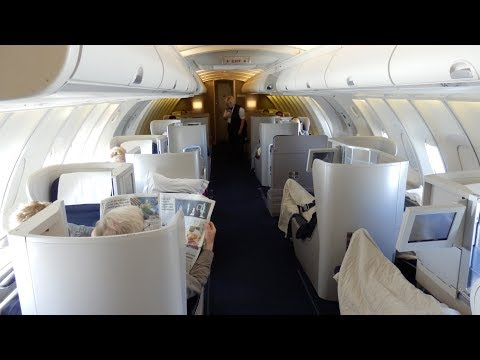 British Airways Boeing 747 business class (upper cabin) London to San Francisco
