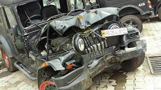 Mahindra (JEEP) & (THAR) accident car