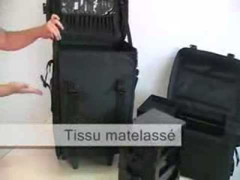 valise trolley tissu matelass e cosmetics united youtube. Black Bedroom Furniture Sets. Home Design Ideas