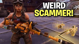 Really Weird Scammer Scams Himself! 😆 (Scammer Get Scammed) Fortnite Save The World