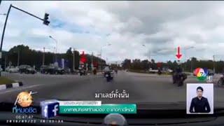 kumpulan konvoi motosikal malaysia masuk berita Tv Thailand