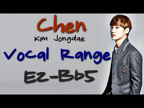 EXO's Chen (Kim Jongdae), Vocal Range: (C2) E2 - Bb5 (김종대 음역대)