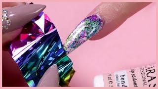 Foil Transfer Nail Design | Dip Powder