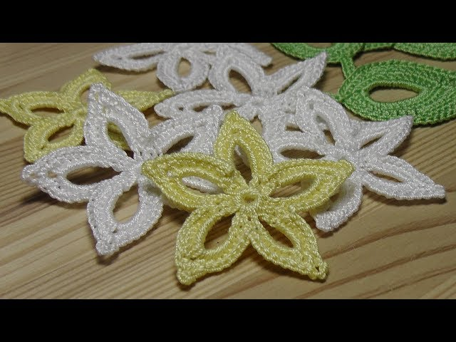 Вязание простого ЦВЕТКА - урок вязания крючком - Lesson crochet flowers