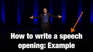 How to write a speech opening: example