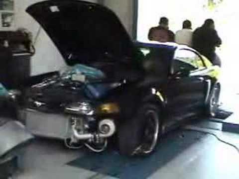 Twin Turbo Mustang Cobra Tt On The Dyno Youtube