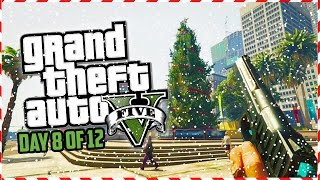 GTA 5 Funny Moments - CALL OF DUTY First Person CHRISTMAS! (Day 8 of 12) (GTA 5 Christmas Special)