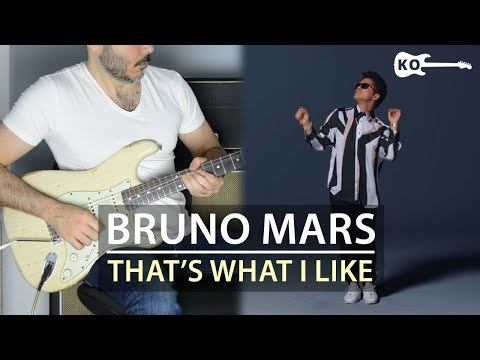 Bruno Mars - That's What I Like - Electric Guitar Cover by Kfir Ochaion