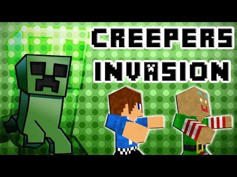 CREEPERS INVASION ! | Minecraft