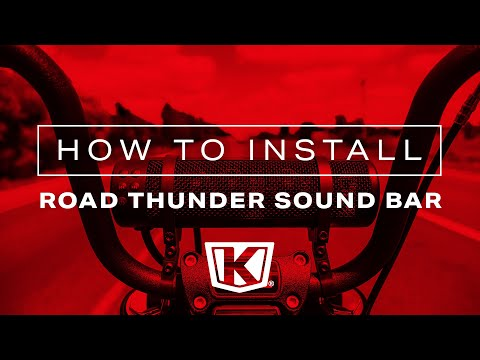 How to: Installing Kuryakyn Road Thunder Sound Bar Plus by MTX