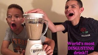 World's most disgusting drink challenge!!
