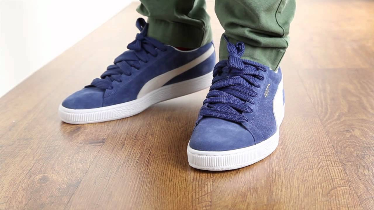 Mens Puma Trainers Suede Canvas Running Shoes  Sports