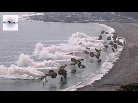 Massive Korea & U.S. Marines Amphibious Beach Landing