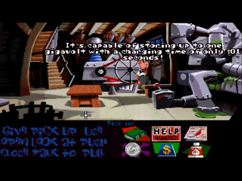 Day of the Tentacle (with speech) Walkthrough part 1