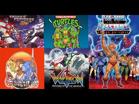 90's CARTOONS - 'Transformers,Ninja Turtles,Thundercats,He-man,Voltron' INTROS