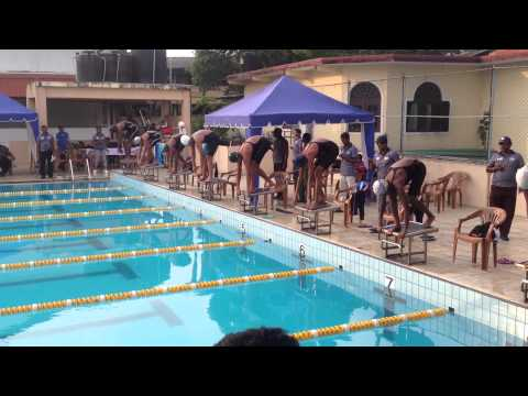 2014 Sri Lanka Junior National Championships 50fr Girls video