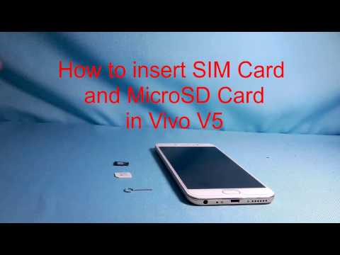 How To Insert SIM Card And Mount MicroSD Card In Vivo V5