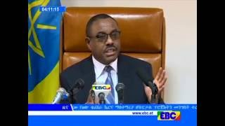 Current Ethiopia Issue Press Release With PM Hailemariam Desalegn from EBC