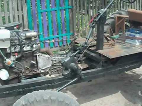 Самодельный минитрактор с вазовским двигателем