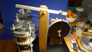 Walking BeamStirling Engine with discontinuous Displacer-Motion Part 1