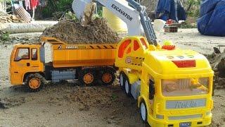 Xe tải chở đất | xe xúc đất công trình | Trucks carrying earth | shoveling dirt car works