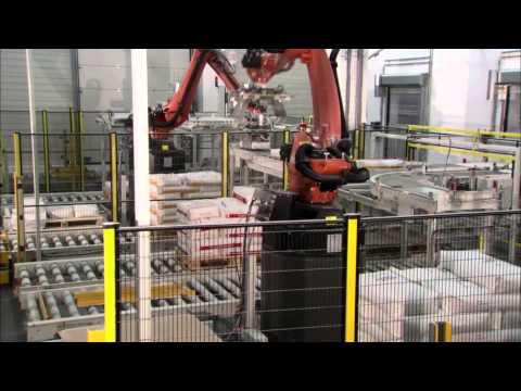 ROBOTEK GROUP s.r.l.- La Pallettizzazione con il Nuovo Robot Antropomorfo -www.robotekgroup.it