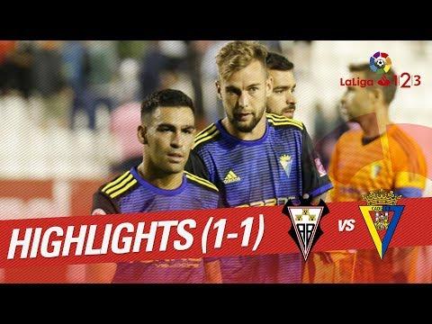 Resumen de Albacete BP vs Cádiz CF (1-1)