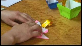 Origami Models : Origami Easter Basket Corner Folding