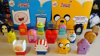 CN Adventure Time Figures Series 1 Full Set in Happy Meal McDonalds Europe Unboxing
