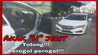 Akak honda mengamuk kereta ditarik | #viral vlog30