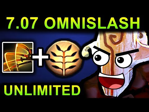 UNLIMITED OMNISLASH JUGGERNAUT - DOTA 2 PATCH 7.07 NEW META PRO GAMEPLAY
