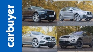 Jaguar F-Pace vs BMW X3 vs Mercedes GLC vs Land Rover Discovery Sport - SUV group test - Carbuyer