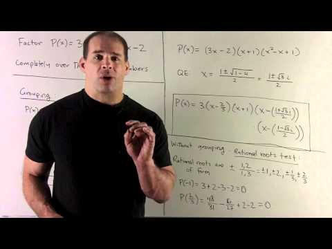 Factoring 3x^4-2x^3+3x-2 Over The Complex Numbers