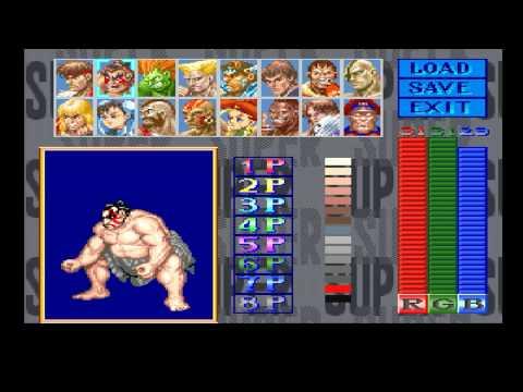 Super Street Fighter 2 for FM TOWNS 4mb required -  emulated on UNZ  - HD