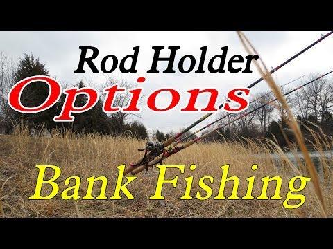 Bank fishing anglers: Monster Rod holder options