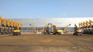 Excavator operator dance with machine