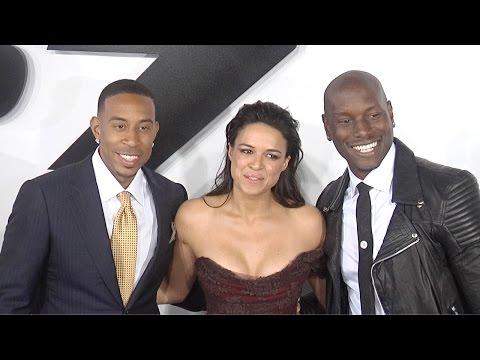 Vin Diesel, Michelle Rodriguez, Tyrese FURIOUS 7 LA Premiere ARRIVALS