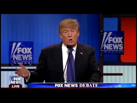Chris Wallace Challenges Trump on Budget Figures (3/3/16 Republican Debate)