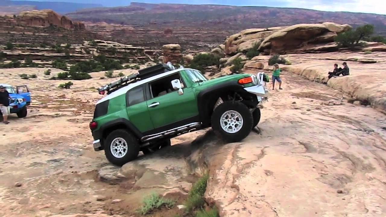Toyota Fj Cruiser Custom >> Custom Green Toyota FJ Cruiser Moab, UT - YouTube