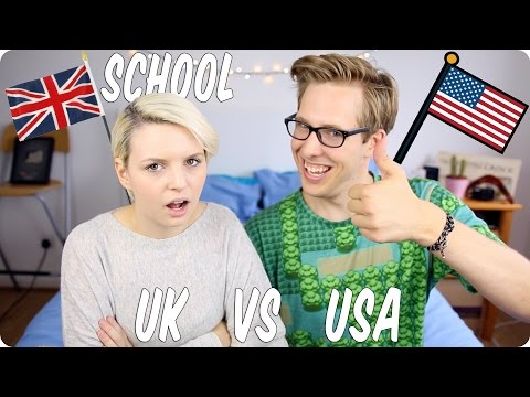 School! British VS American! | Evan Edinger & Emma Blackery