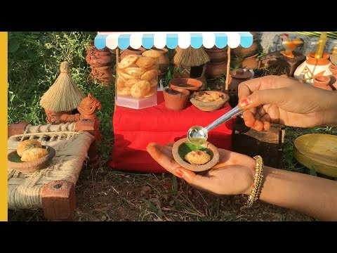 Mini Pani Puri | E31 | Golgappa Recipe & Sweet & Pani | Miniature Cooking