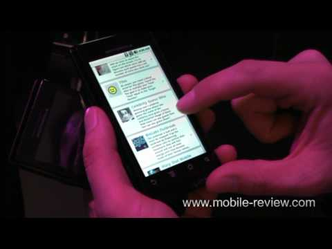 Motorola Quench - Flash on screen